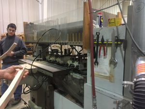 The machine that cuts out the mortise.