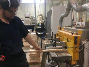 Cutting the tenon.
