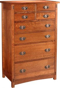 Amish Lake Champlain 8-Drawer Chest