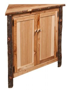 The Amish Rustic Hickory Corner Buffet