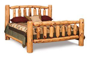 The Amish Rustic Cedar Log Cabin Bed