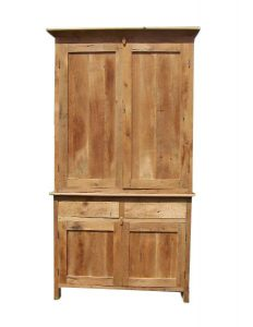The Amish Two Door Server with Armoire Top