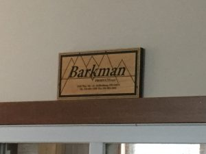 Entering Barkman Woodshop