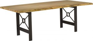 Live Edge Dining Table with Target Base by Barkman Furniture.