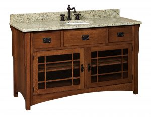 "Amish 60"" Lancaster Mission Single Bathroom Vanity Cabinet"
