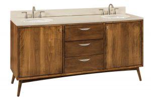 Amish Mid Century Bathroom Vanity