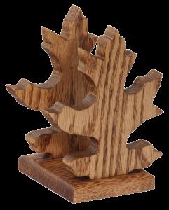 Amish Oak Wood Oak Leaf Shape Napkin or Letter Holder