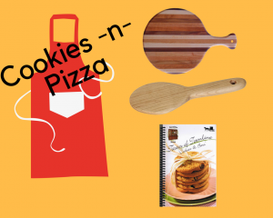 Fun Amish kitchen accessories for cookie and pizza making.