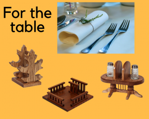 Fun Amish Accessories for the dining table.