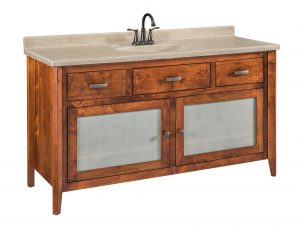 Garland Large Brown Maple Bathroom Vanity