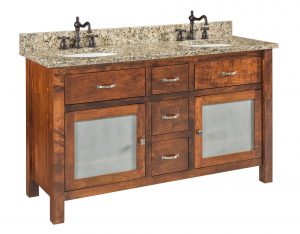 Garland Large Brown Maple Free Standing Bathroom Vanity