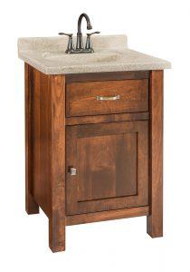 Garland Small Brown Maple Free Standing Bathroom Vanity