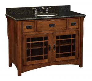 Lancaster Mission Single Bathroom Vanity Cabinet