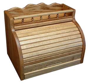 Amish Roll Top Bread Box with Spice Storage Rail