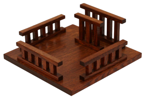 Amish Hardwood Square Mission Lazy Susan