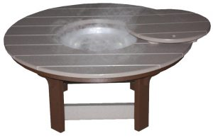 Amish Made Poly Coffee Table with Optional Ice Bowl
