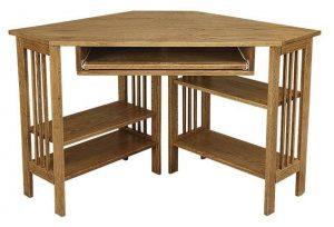 Amish Office Furniture Mission Corner Computer Desk