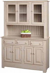 Amish Pine Wood Quick Ship Farmhouse Hutch