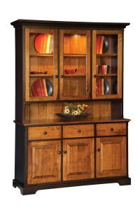 "Amish 57"" Three Door Hutch"