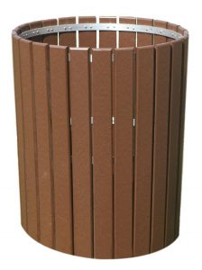 Slatted Poly Outdoor Trash Bin