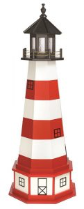 Amish Assateague VA Hybrid Garden Lighthouse with Base