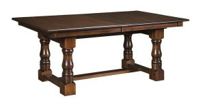Amish Clydes Trestle Dining Table