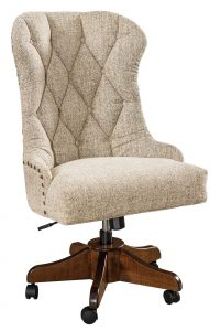The Amish Elmira Upholstered Desk Chair