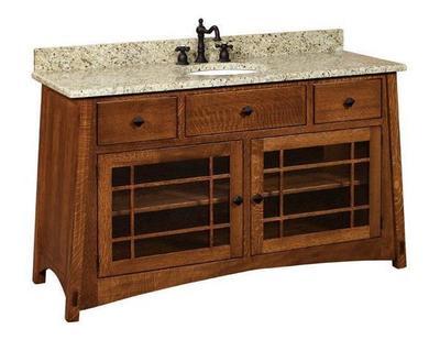 McCoy Mission Single Bathroom Vanity Cabinet