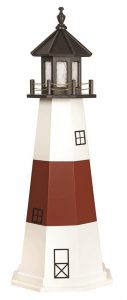 Amish Montauk NY Wooden Garden Lighthouse