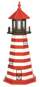 Amish West Quoddy ME Wooden Garden Lighthouse