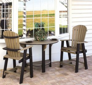 Amish Poly Furniture Pub Table Set
