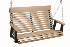 Berlin Gardens 4' Casual-Back Poly Porch Swing