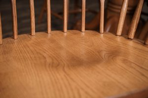 The spindles of a Windsor chair.
