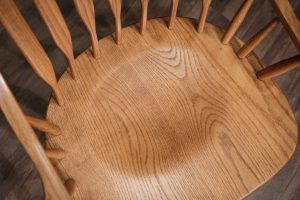 Scooped seat on the Amish McKinley Dining Chair
