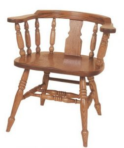 Amish Windsor Slot Low Captain's Chair