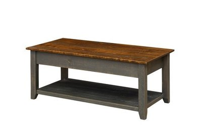 Amish Pine Coffee Table with Lift Top