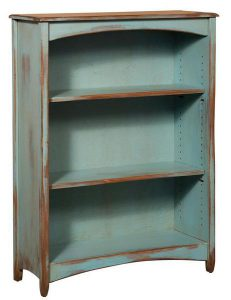 Amish Pine Wood 4' Carolina Bookcase