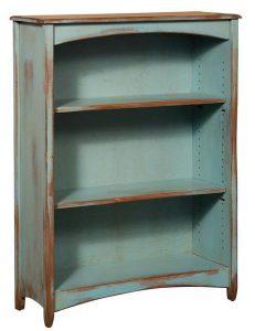 Amish Pine Wood 4' Carolina Bookcase