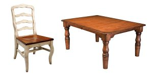The Royal Court Dining Chair and Country Farmhouse Table