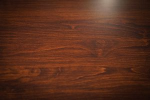 Close up of wood grain with standard varnish.