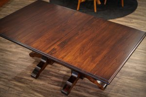 The Kingston Dining Table with standard varnish.