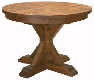 Amish Alberta Pedestal Dining Room Table