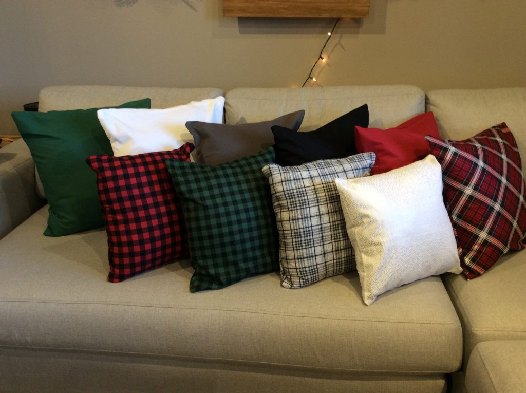Enveloped Throw Pillows