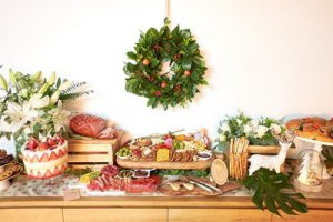 Grazing table display by Lush Platters.