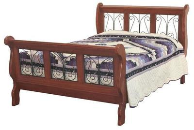 Amish Classic Wrought Iron Sleigh Bed