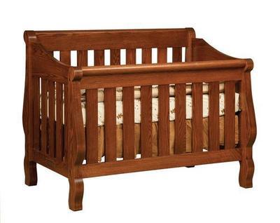 The Amish Hoosier Sleigh Convertible Crib
