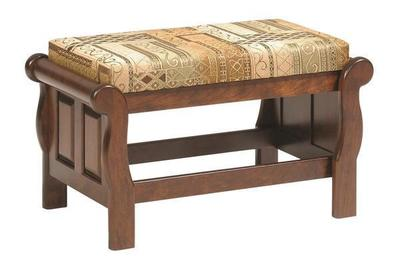 Amish Versailles Upholstered Ottoman