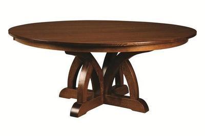 Amish Brooklyn Pedestal Dining Table