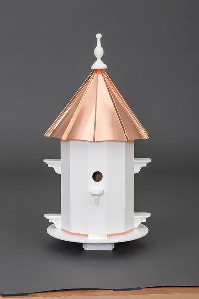 Amish Copper Roof Vinyl Six Hole Birdhouse