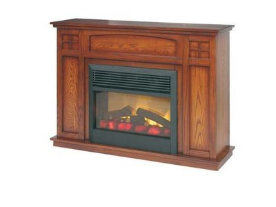 Amish Craftsmen Mission Mantle Electric Fireplace